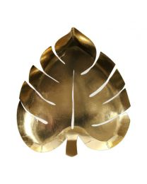 Palm leaf bordjes goud