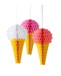 Honeycomb roze ijsco mix 3/pack