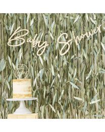 Houten Baby Shower slinger Botanical