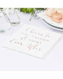 Happily Ever After Servetten rose goud