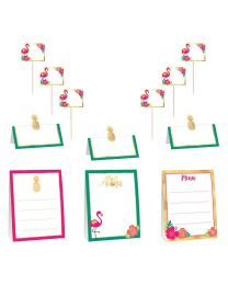 Multi color buffet decoratie kit