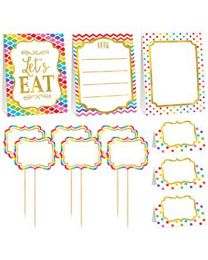Buffet Decoratie Kit multi color