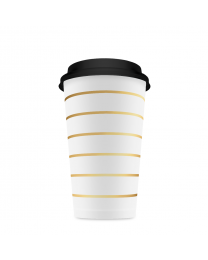 Coffee Cup gouden streep/10pk