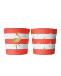 Food cups 6 stuks preppy flamingo