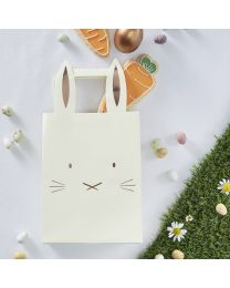 Rosé Goud folie Bunny Party Bags Hoppy Easter