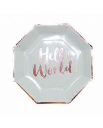 Hello World Mint & Rose Gouden bordjes