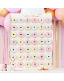 Donut wall XL Wit met gouden letters Ginger Ray