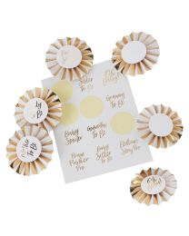 Oh Baby! Goud folie Baby Shower Badge Kit