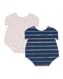 baby romper bordjes pink navy gender reveal ginger ray