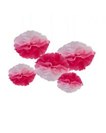 Pompoms Roze ombre 5 pack