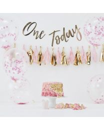 1 jaar cake smash kit roze