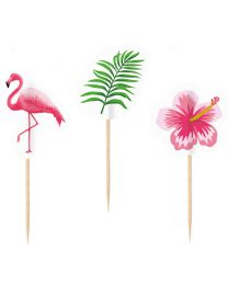 Flamingo party prikkers