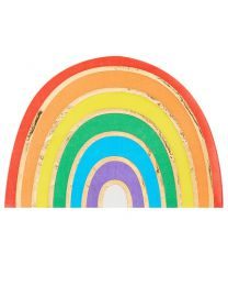 Pastel regenboog servetten iriserend Ginger Ray Pastel Party