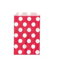 Papieren zakjes polka dot-Rood