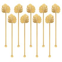 Cocktail stirrers Palmblad goud