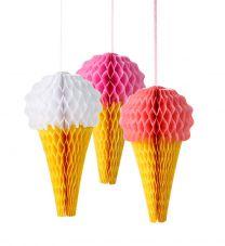 Honeycomb roze ijsco mix 3/pack