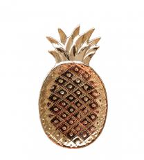 Ananas bordje goud keramiek