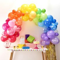 Rainbow multi color Baloon arch Ginger Ray