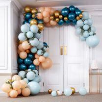 Luxe Teal en goud chroom grote ballonnenboog Ginger Ray