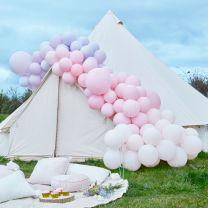Ballonnenboog Groot Pastel Roze en Paars