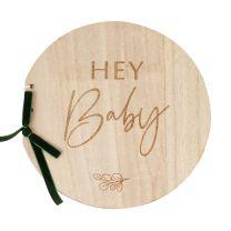 Houten Hey Baby Shower Gastenboek