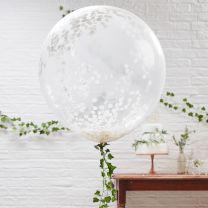 Confetti Ballonnen XL Wit 3 st.