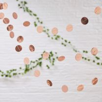 Rosé Gouden cirkel slinger