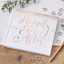 Rosé gouden Happily Ever After Gastenboek