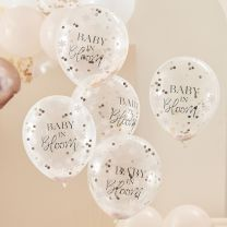 Confetti ballonnen rosé goud Baby in Bloom