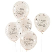 Rose gouden confetti ballonnen Baby in Bloom Ginger Ray