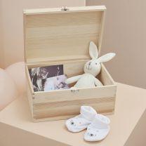 Houten memory box Baby in Bloom