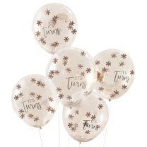 It's Twins confetti ballonnen voor een tweeling babyshower