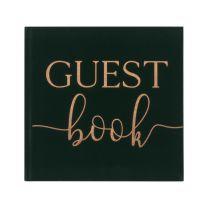 Gastenboek groen velvet Ginger Ray