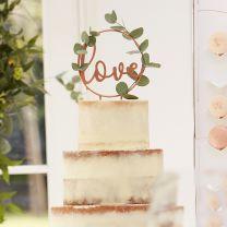 Taarttopper Love Koper Botanical Wedding
