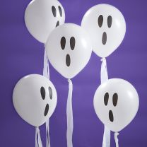 Spook ballonnen met streamer