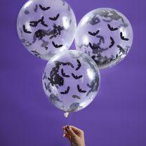 Ballonnen met vleermuis confetti