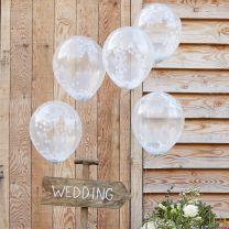 Confetti Ballonnen Wit