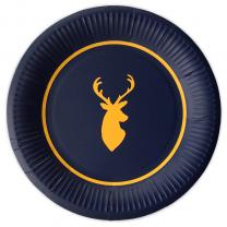 Papieren bordjes Preppy Deer