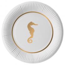 Papieren bordjes preppy seahorse