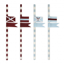 Papieren rietjes Preppy Paddle met stickers