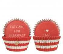 Cupcake vormpjes preppy flamingo