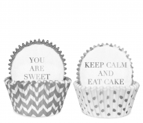 Cupcake vormpjes wit & zilver