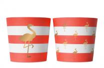 Food cups 6 stuks preppy flamingo