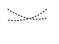 Slinger halve cirkels zwart