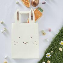 Rosé Goud folie Bunny Party Bags Hoppy Easter