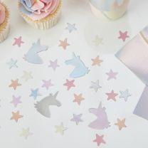 Unicorn en sterren Confetti Make a Wish