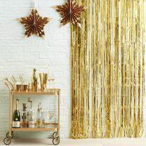 Feestgordijn goud folie