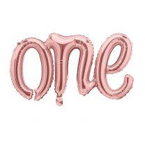 Folieballon One  Rose Goud