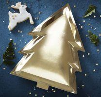 Gouden Kerstboom bordjes