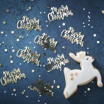 Merry Christmas gouden confetti